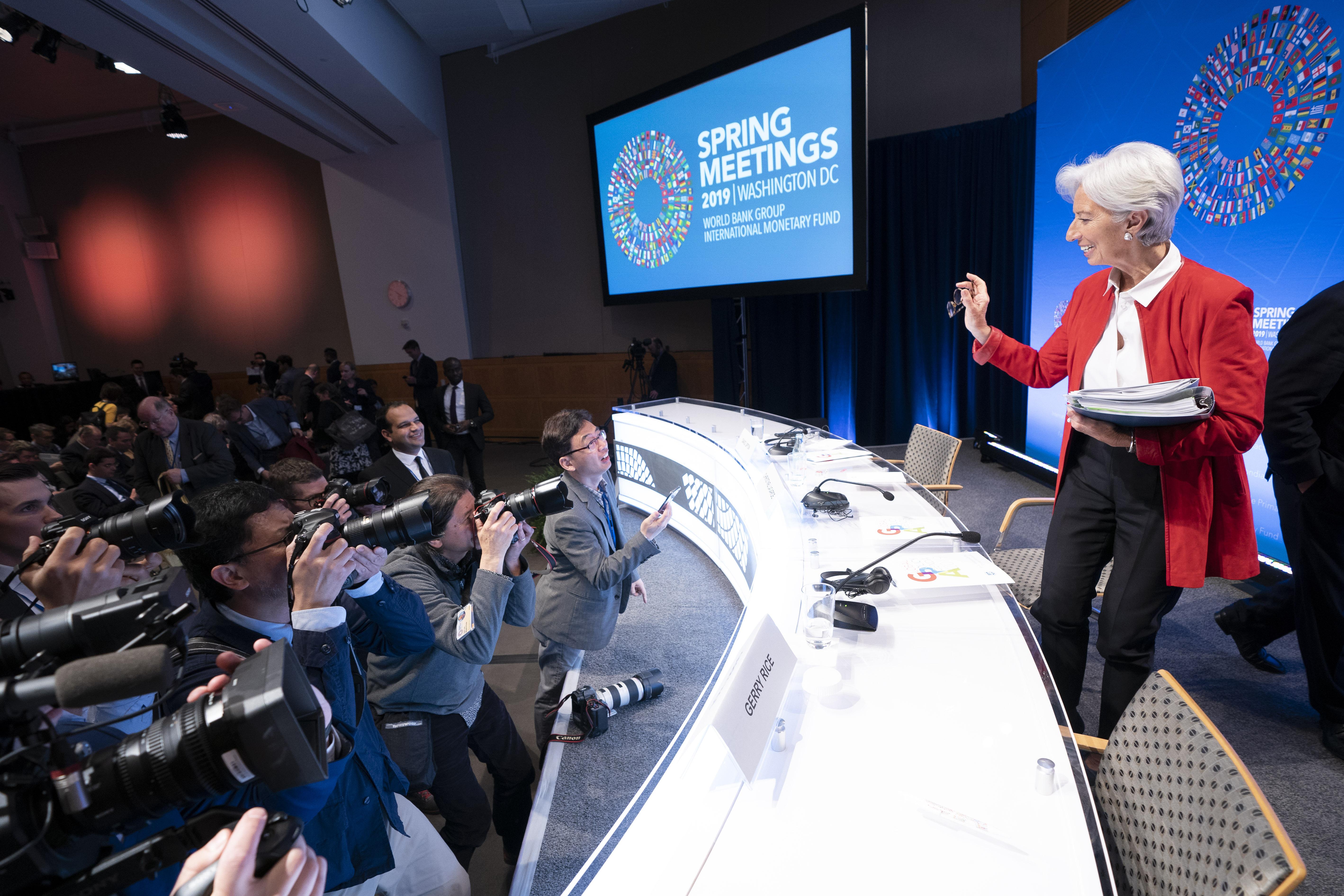 Press Briefing: IMF Managing Director Christine Lagarde